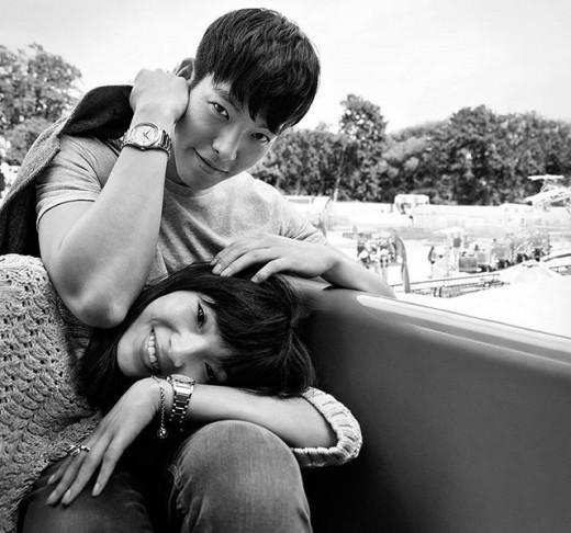 Kim Woo Bin and Ju Xiao Wen Are a Sweet Couple for Calvin Klein