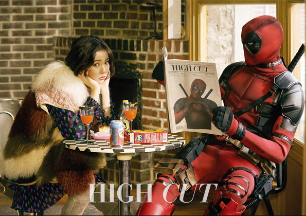 4minute's HyunA Meets Marvel's Deadpool in High Cut Pictorial