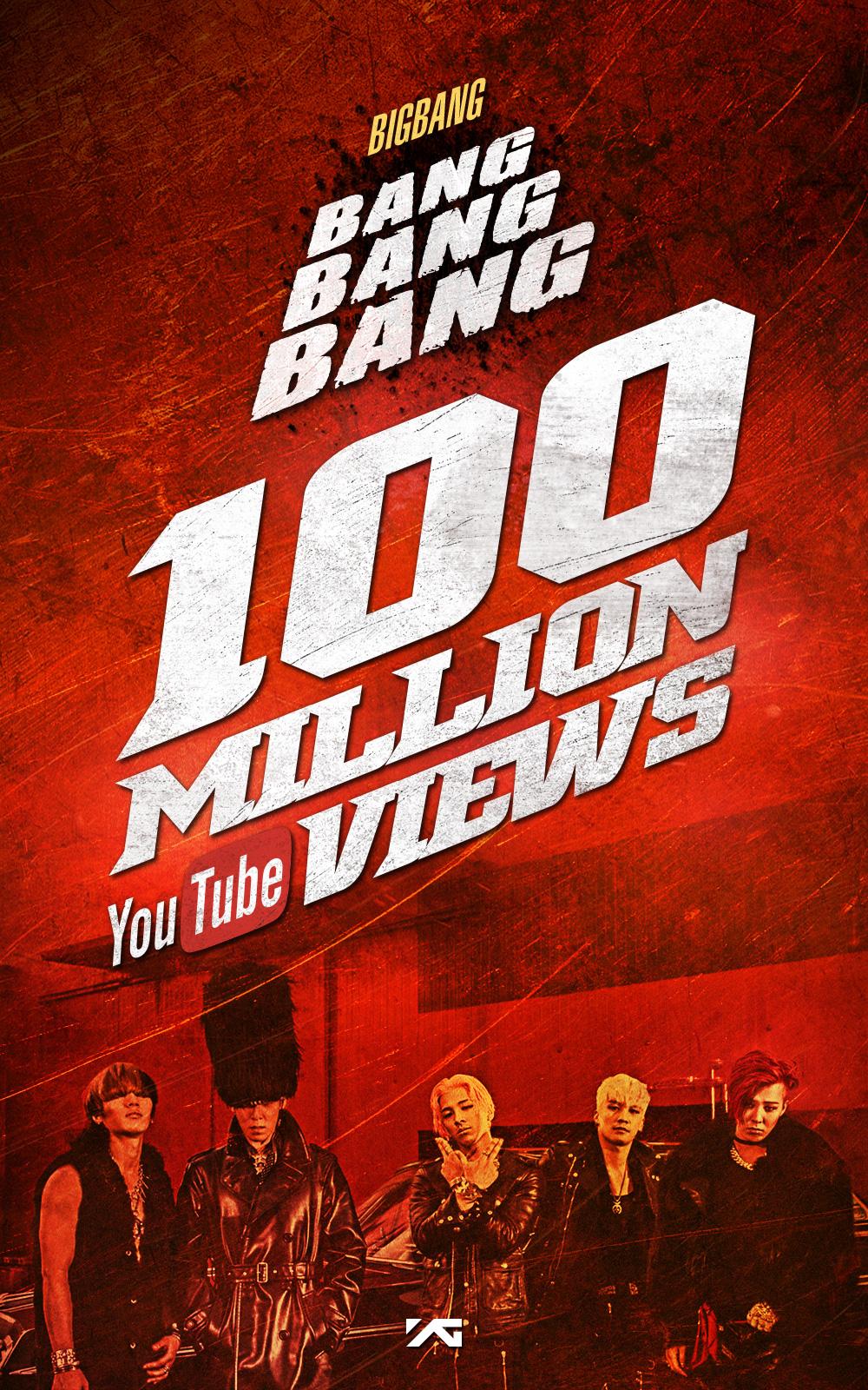 """BIGBANG's """"BANG BANG BANG"""" Reaches 100 Million Views on YouTube"""