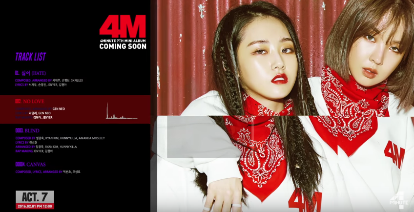 "4Minute Teases ""Act. 7"" Comeback"
