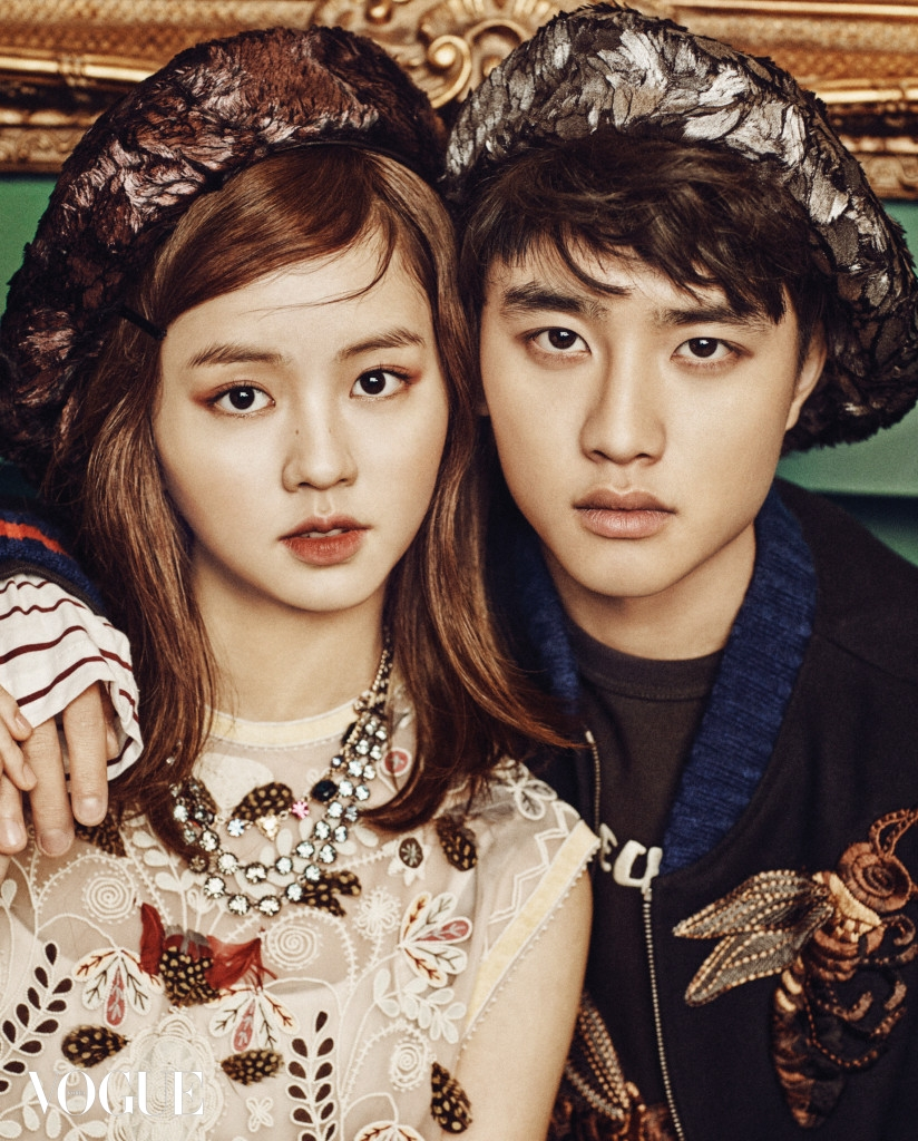 D.O and Kim So Hyun Look Dashing in Vogue