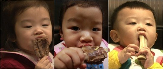 "Daebak and His Sisters Go Crazy for Meat on ""The Return of Superman"""