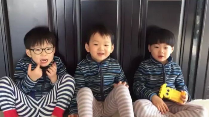 Song Triplets Send Video Message to Lee Dong Gook's Children