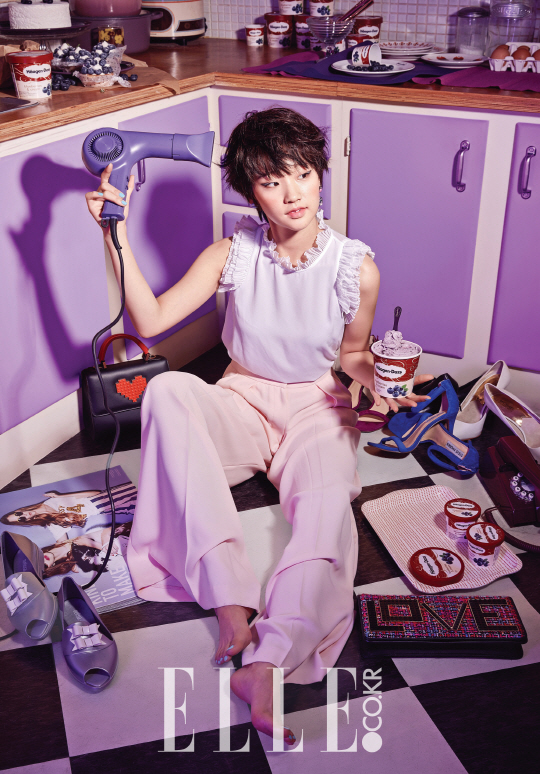 Park So Dam Goes Sweet for Pictorial With Elle and Häagen-Dazs