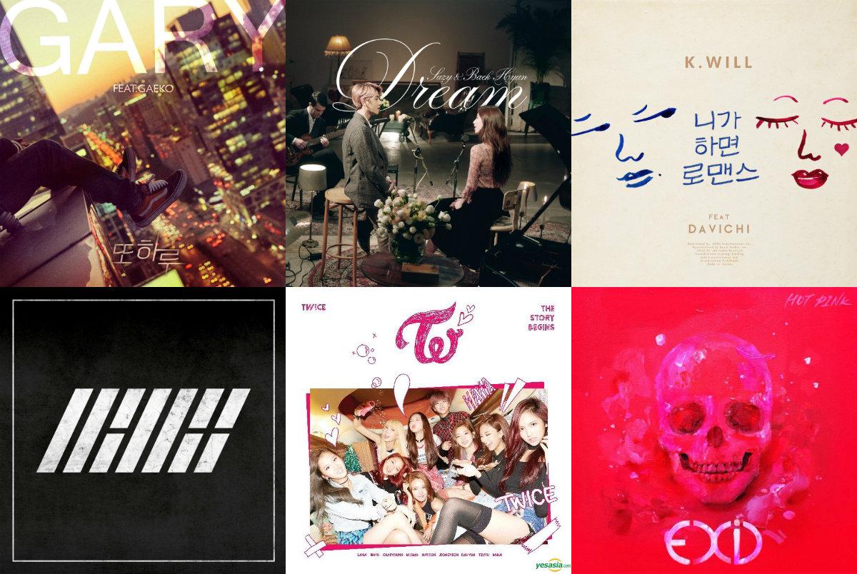 Weekly K-Pop Music Chart 2016 – January Week 5