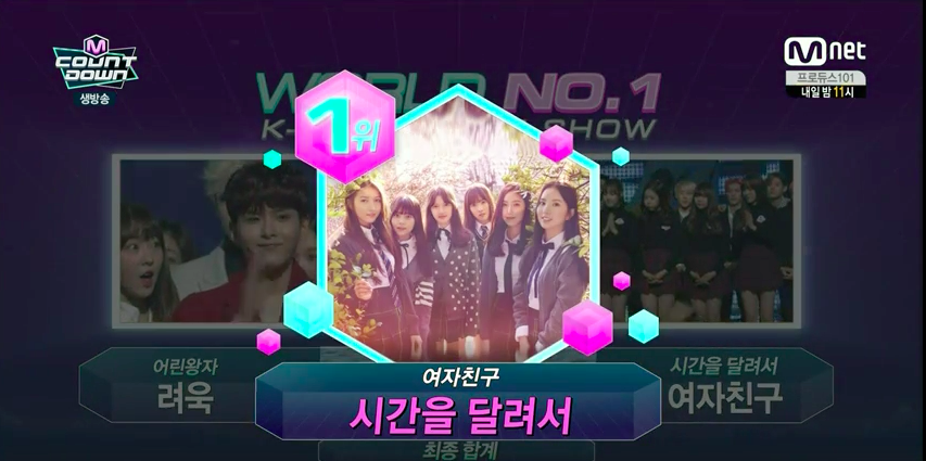 "GFRIEND Takes Home Win with ""Rough"" + Performances by 4Minute, WINNER and More on ""M!Countdown"""