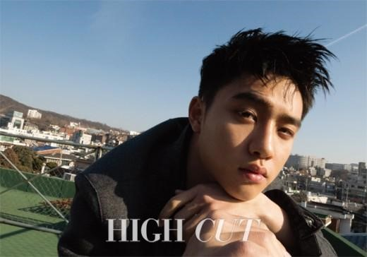 EXO's D.O Smolders in High Cut Pictorial