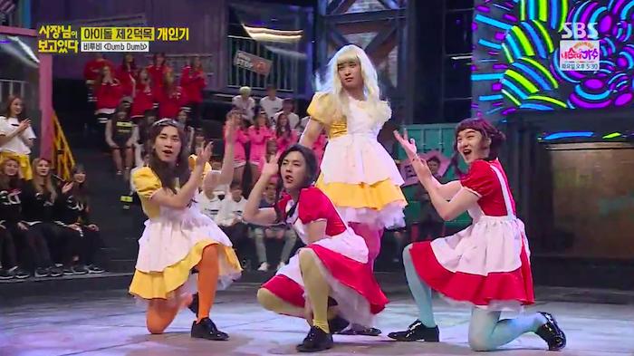 "Watch: BTOB Dresses Up as Red Velvet for Hilarious ""Dumb Dumb"" Performance"