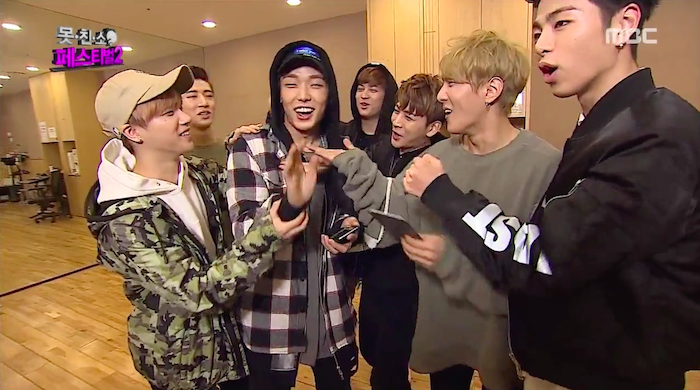"iKON Celebrates Bobby's Invitation to ""Meet My Ugly Friend"" Special of ""Infinite Challenge"""