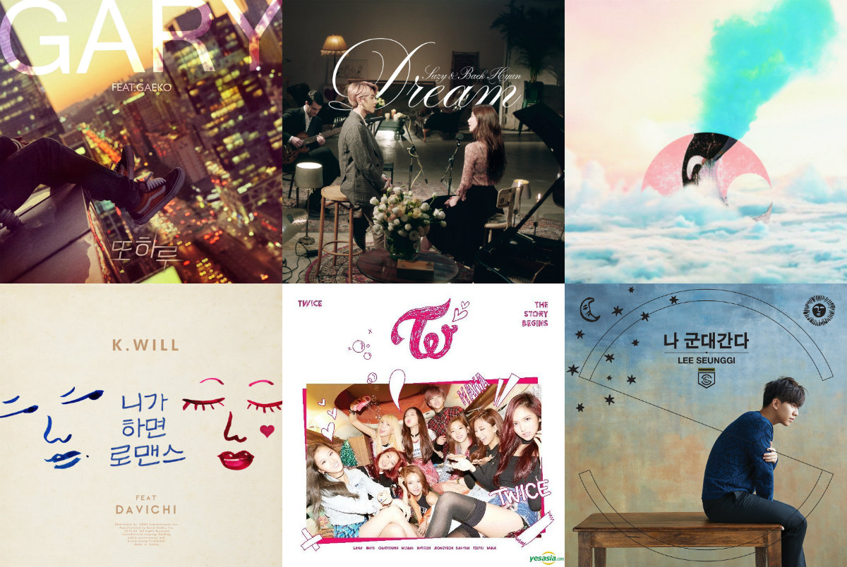 Weekly K-Pop Music Chart 2016 – February Week 1