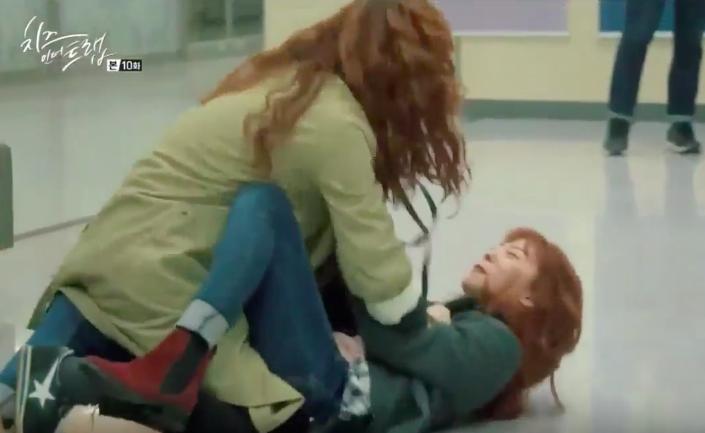 """""""Cheese in the Trap"""" Yoon Ji Won on Filming Fight Scene With Kim Go Eun"""