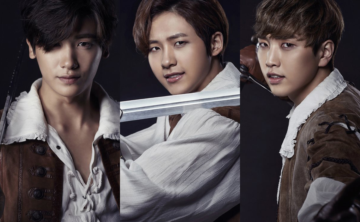 "Park Hyung Sik, Sandeul, and CNU Confirmed for 2016 ""The Three Musketeers"" Musical"