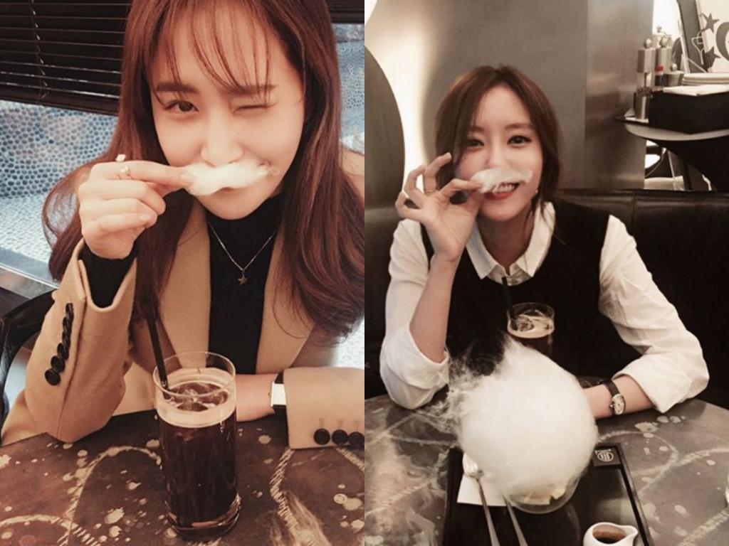 Girls' Generation's Yuri and T-ara's Hyomin Enjoy a Cotton Candy Date