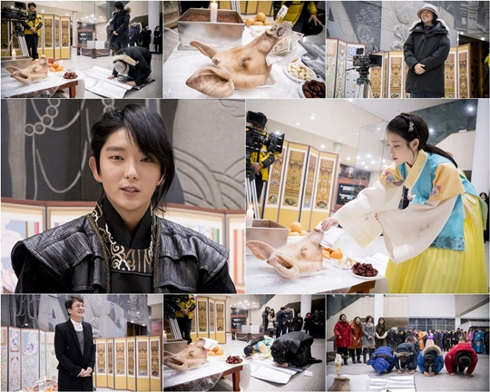 """Moon Lovers"" Reveals Photos of Their Ritual Ahead of Filming"