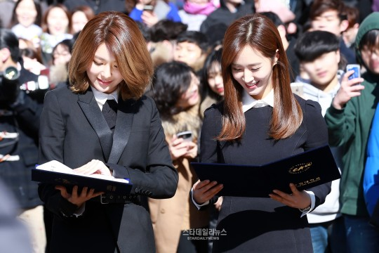 graduation star daily news Yuri and sooyoung