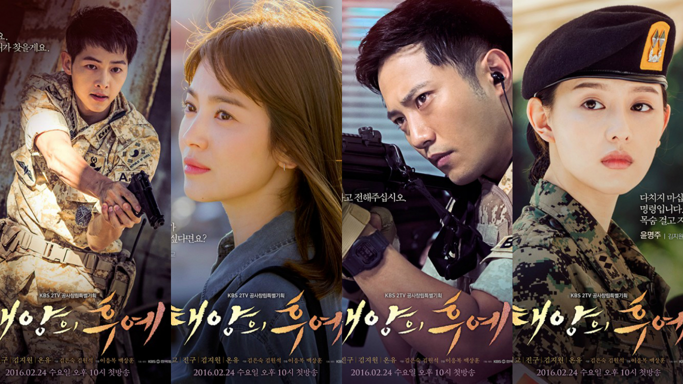 """Descendants of the Sun"" Reveals Individual Character Posters and Descriptions"