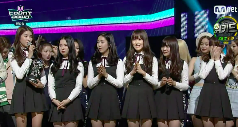 "GFRIEND Takes 10th Win and 1st Triple Crown With ""Rough"" on ""M!Countdown"""