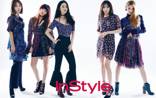 4Minute Switches Things Up in New InStyle Pictorial
