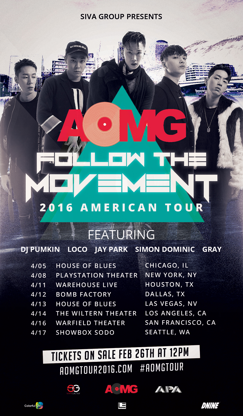 Aomg To Bring Their Quot Follow The Movement Quot Tour To The Us
