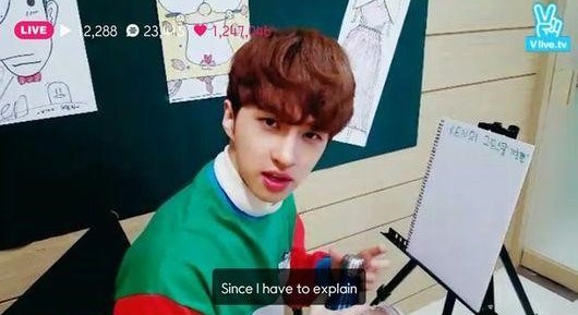 VIXX's Ken Treats Fans to a Drawing Lesson