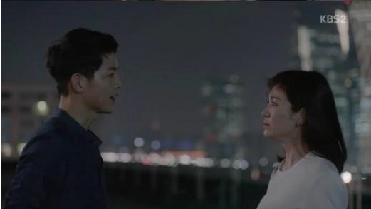 """Song Joong Ki and Song Hye Kyo Fall in Love at First Sight on """"Descendants of the Sun"""""""