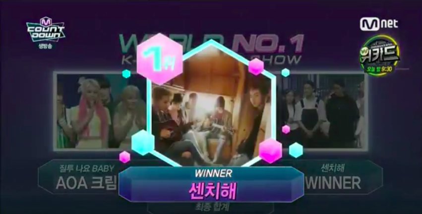 "WINNER Takes 1st Win For ""Sentimental"" on ""M!Countdown"" + Performances by Taemin, B.A.P, and More"