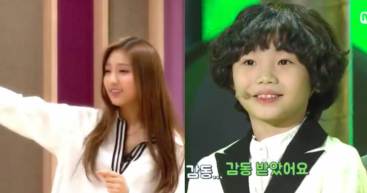 """Lovelyz' Yein Helps Young Contestant Prepare for Performance on """"We Kid"""""""