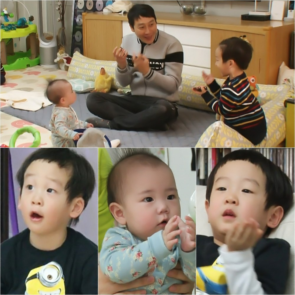 "Seo Eon and Seo Jun Try to Make Rohee Laugh on ""The Return of Superman"""