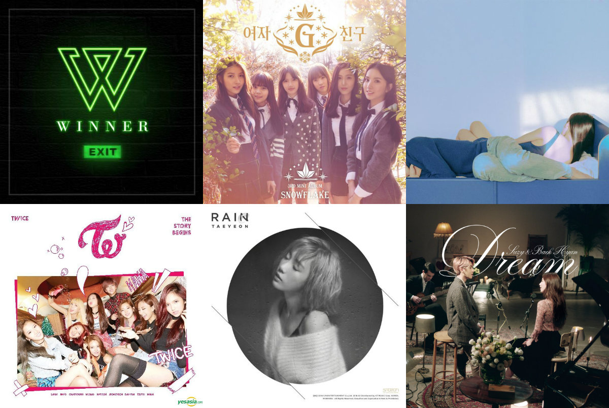 Weekly K-Pop Music Chart 2016 – February Week 4