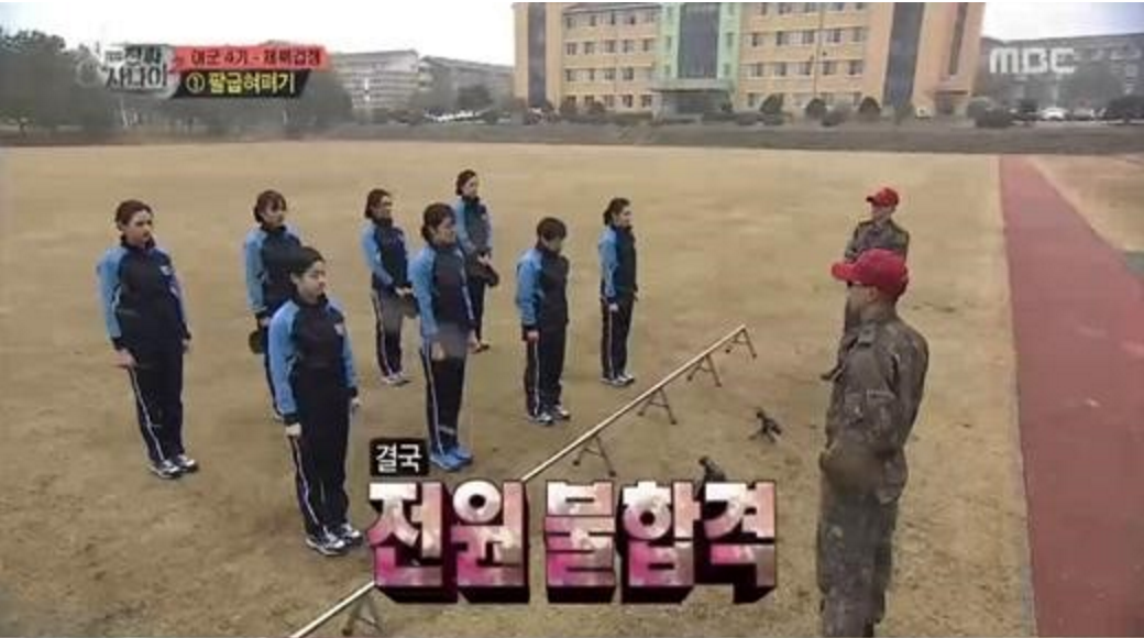 """New Female Recruits for """"Real Men"""" Set a New Low Record for Pushups"""