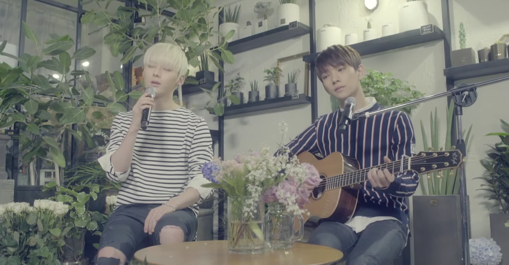 "Updated: NU'EST's Minhyun and SEVENTEEN's Joshua Release Acoustic Version of ""Overcome"""