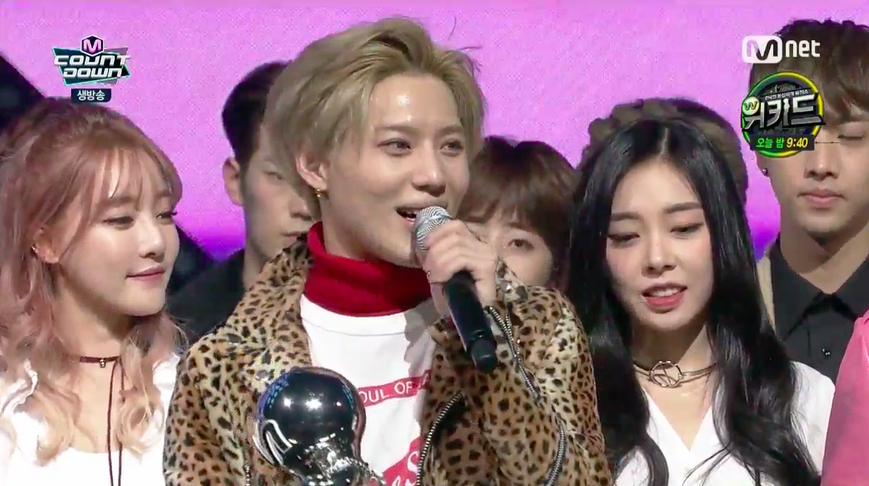 "Taemin Takes Home 3rd Win on ""M!Countdown,"" Performances by MAMAMOO, WINNER, and More"
