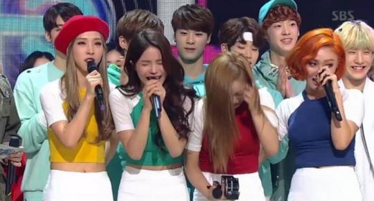 mamamoo inkigayo 1st win