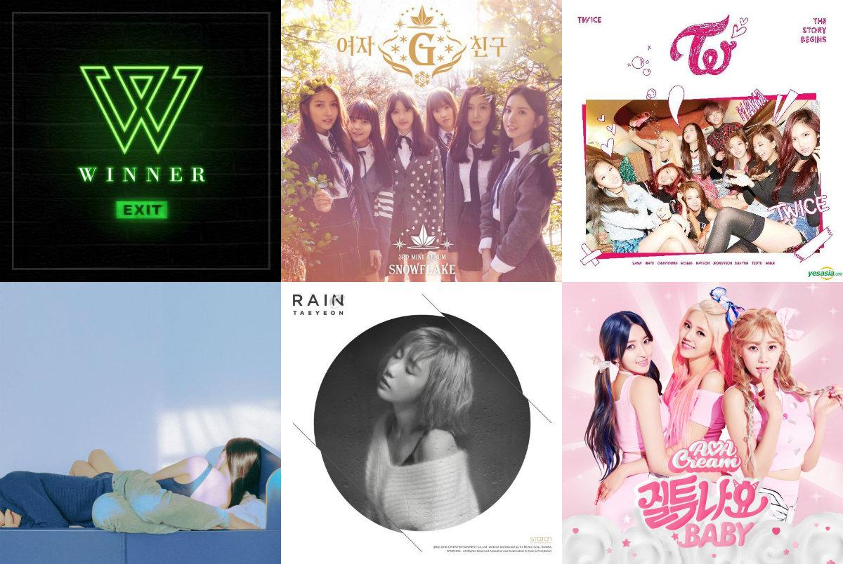 Weekly K-Pop Music Chart 2016 – March Week 1