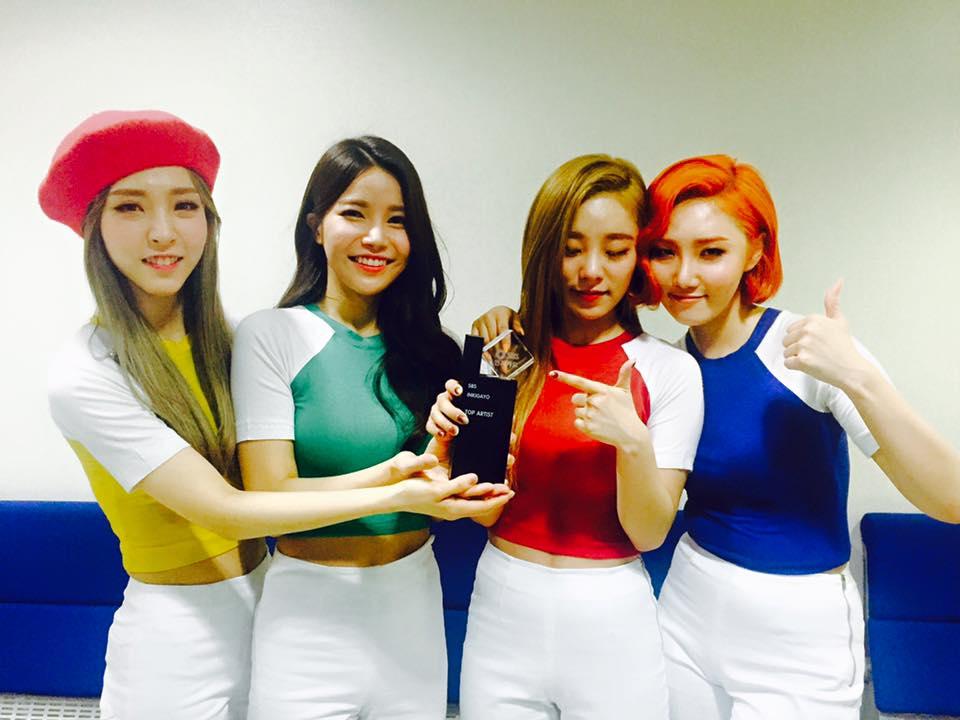 mamamoo inkigayo first win