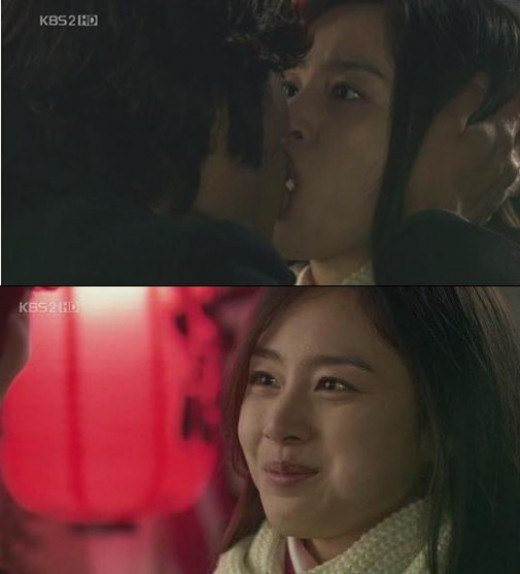 lee byung hun kim tae hee kiss