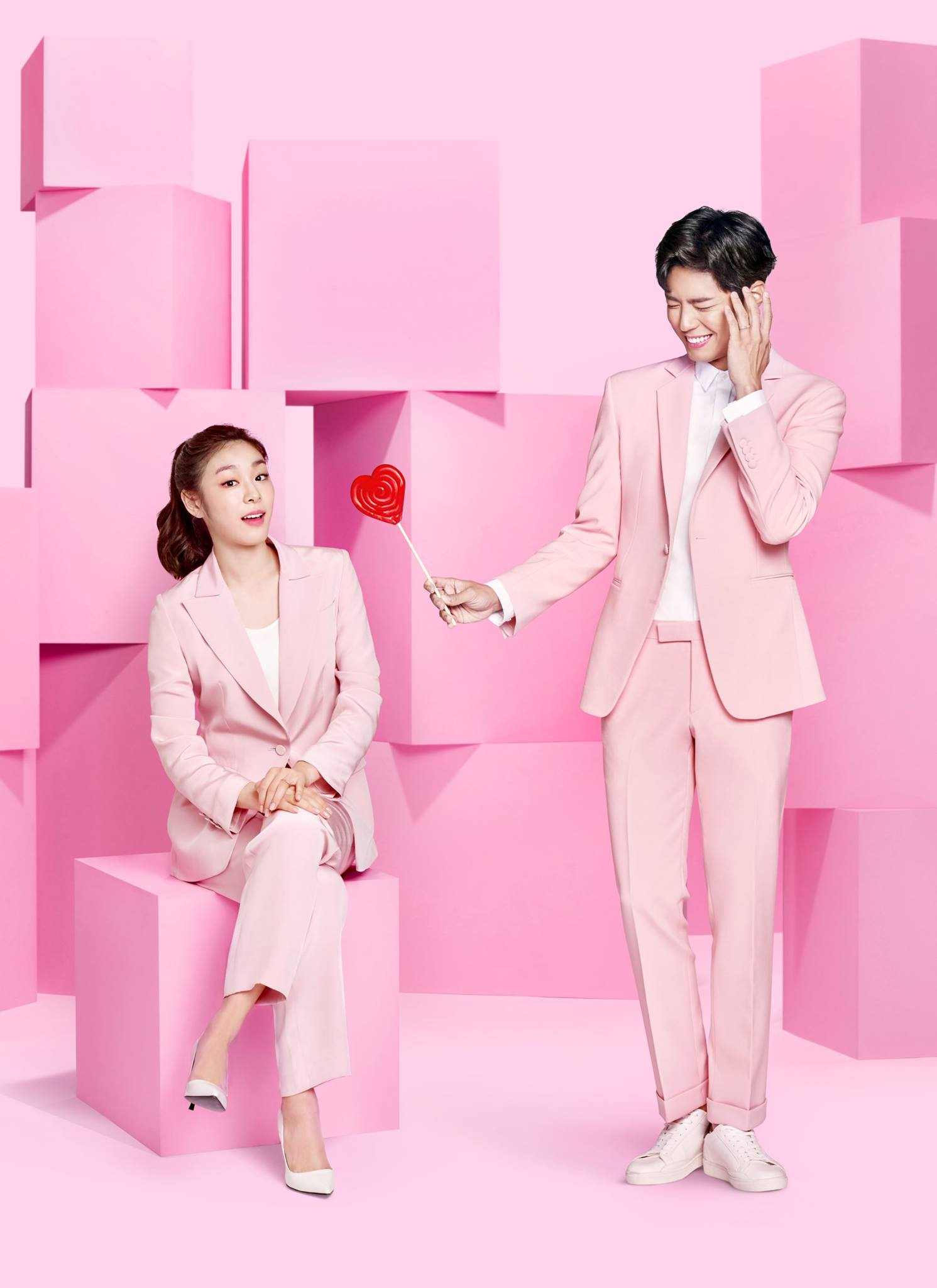 Kim Yuna and Park Bo Gum Go All Pink in New Pictorial for J.ESTINA