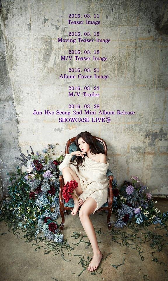 Secret Hyosung Solo Comeback Schedule