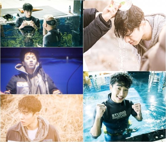 """BEAST's Lee Gikwang Fights the Cold for Underwater Scenes in """"Monster"""""""
