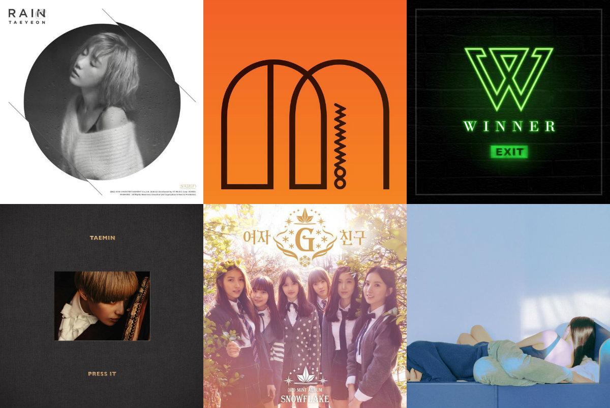 Weekly K-Pop Music Chart 2016 – March Week 2