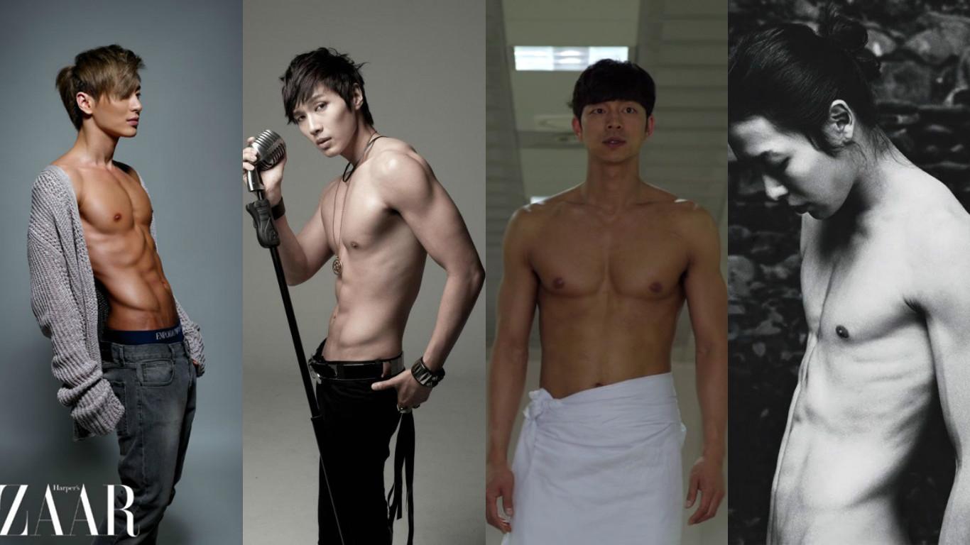 Korean artists naked body