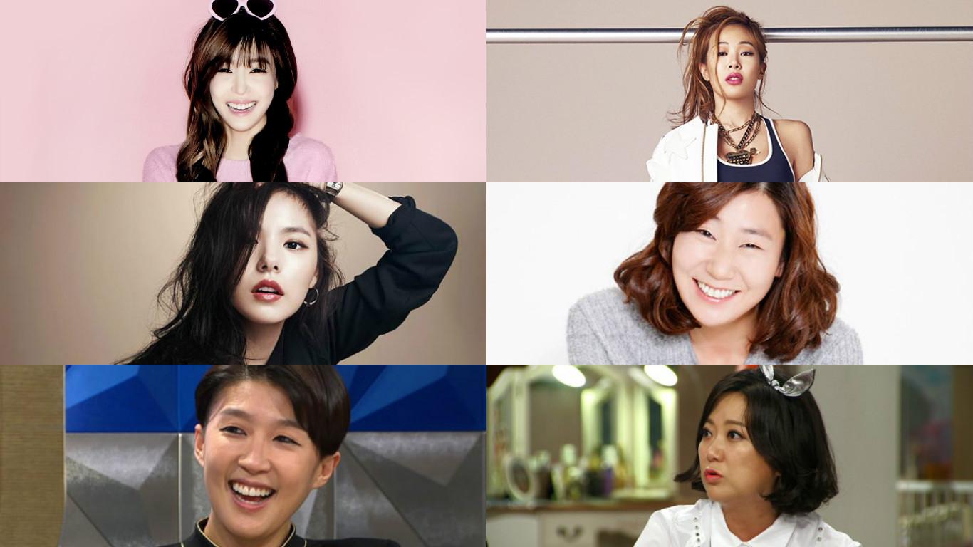 tiffany jessi min hyo rin ra mi ran hong jin kyung kim sook