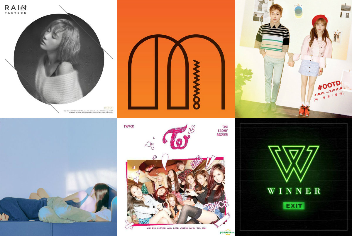 Weekly K-Pop Music Chart 2016 – March Week 3