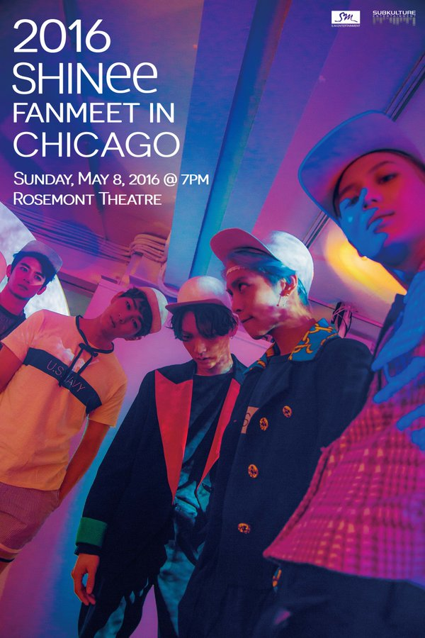 Look Out Chicago – SHINee Is Coming for a Fanmeet