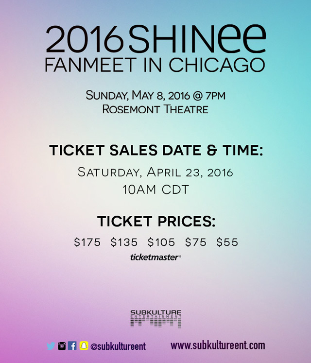 SHINee-Chicago-ticket-prices