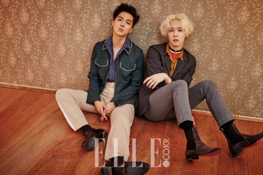 WINNER's Song Mino and Nam Tae Hyun Show Their Passion for Music in ELLE Magazine
