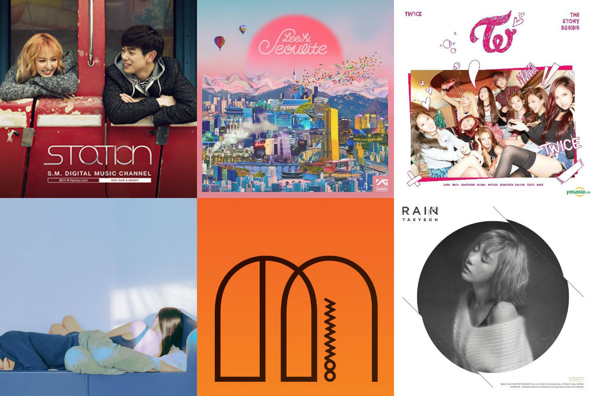Weekly K-Pop Music Chart 2016 – March Week 4