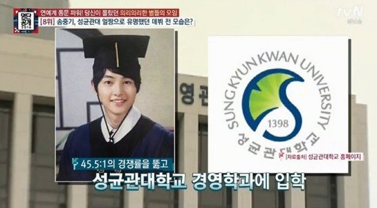 Song Joong Ki's Model Student Past Revealed