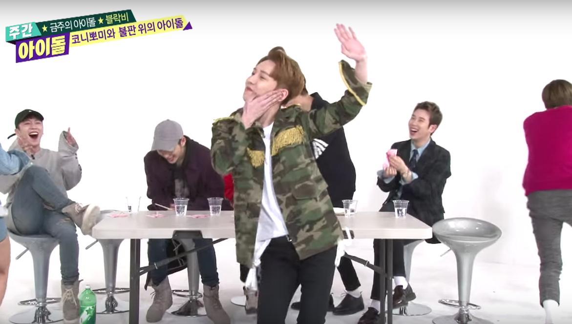 "Watch: Block B Hilariously Reenacts Girl Group Dances on ""Weekly Idol"""