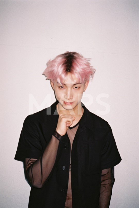 GOT7's JB Shows Off His Pink Transformation for MAPS